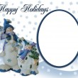 Christmas Snowman holiday card — Stock Photo #2140851