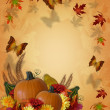 Thanksgiving Autumn Fall Border - Stock Photo