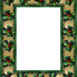 Christmas Border Holly frame — Stock Photo