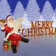 Merry Christmas Santa background — Stock Photo
