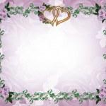 Floral border lavender roses invitation — Stock Photo #2143914