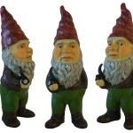 Garden Gnomes 3 isolated on white — Stock Photo