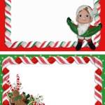 Christmas Label Borders Ribbon Candy — Stock Photo #2145562