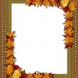 Thanksgiving Fall Autumn Border — Stock Photo