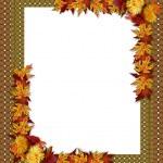 Thanksgiving Fall Autumn Border — Stock Photo #2145566