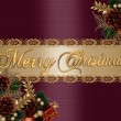 Christmas Background elegant satin — Stockfoto
