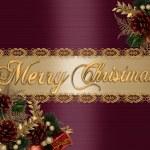 Christmas Background elegant satin — Stock Photo