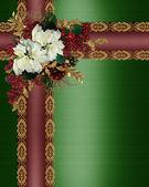 Noel sınır şık saten şeritler — Stok fotoğraf