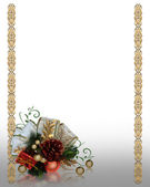 Christmas decoration gold border — Stok fotoğraf