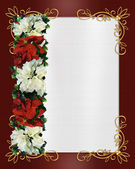 Christmas Border poinsettias — Stok fotoğraf