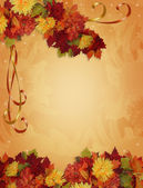 Thanksgiving Autumn Fall Border — Stock Photo