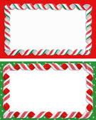 Christmas Label Borders Ribbon Candy — Stock Photo