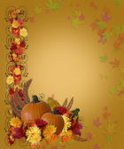 Thanksgiving Fall Autumn Border — ストック写真