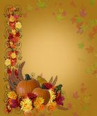 Thanksgiving Fall Autumn Border — Stock Photo