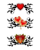 Red Hearts Design elements — Stock Photo