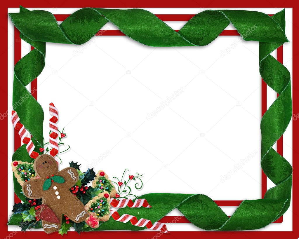 Christmas border ribbons and treats — Stock Photo © Irisangel ...