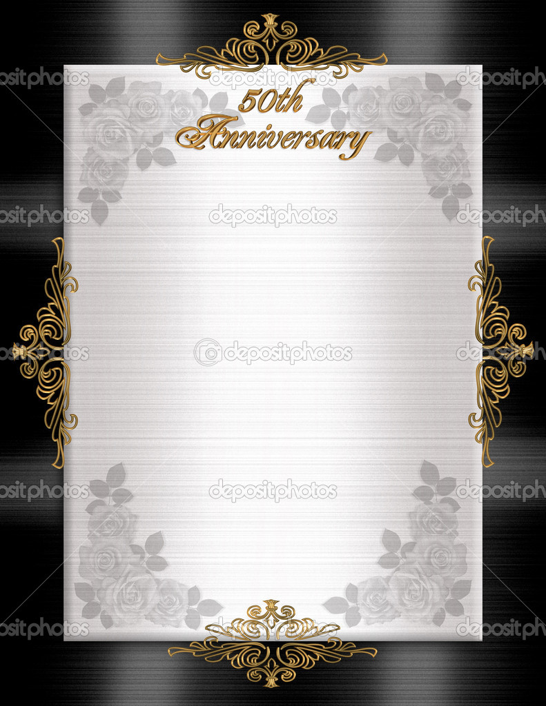 50th Anniversary Invitations Templates