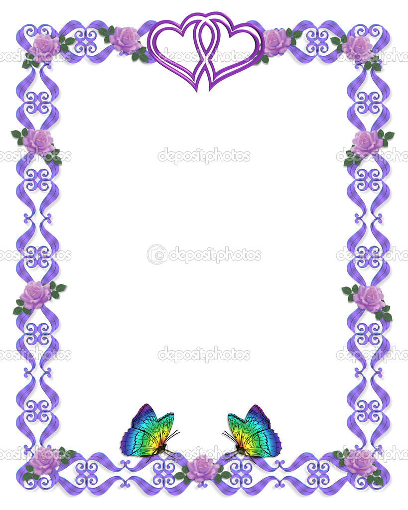 vintage fl frame for wedding invitation vector image 37313