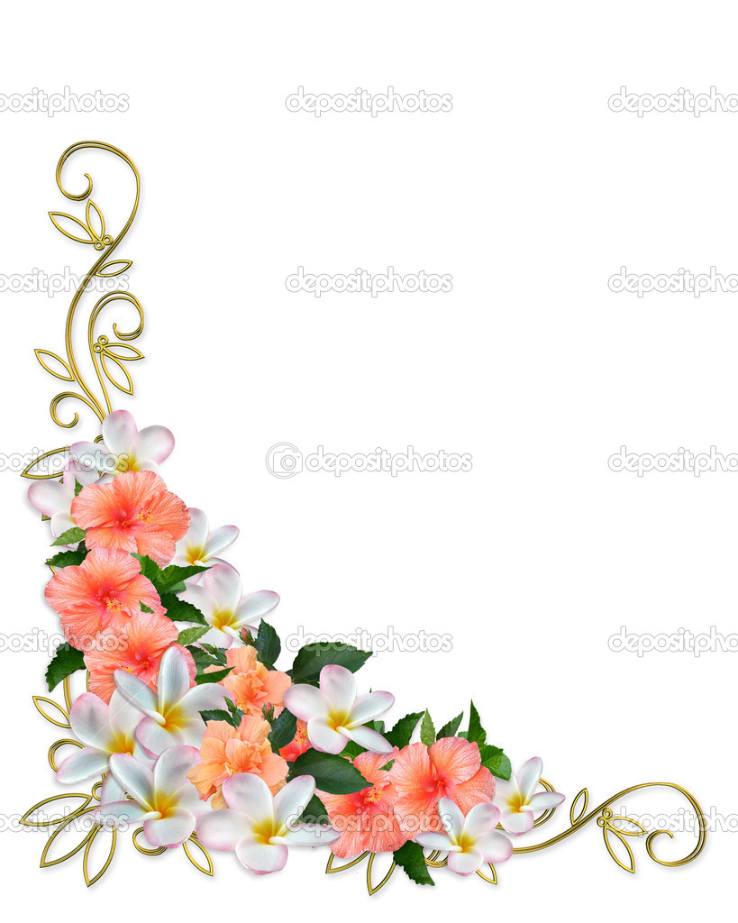 Clip art of element for design corner flower vector 1525r 143392 - Border Clipart Floral Page Corner Pictures