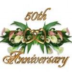 50th Anniversary Calla Lilies — Stock Photo #2158630