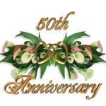 50th Anniversary Calla Lilies — Stock Photo
