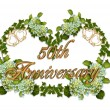 Stock Photo: 50th Anniversary Ivy and Hydrangea