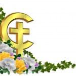 Easter Border Christian cross — Stock Photo