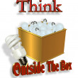 Think Outside the Box Energy Saving — Stock Photo