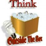Think Outside the Box Energy Saving — Stock Photo #2159019