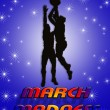 March Madness Basketball Players — Stock Photo