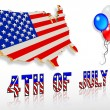 July 4th 3D Patriotic clip art designs — Stock Photo