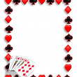 Playing Cards poker border royal flush - Stock Photo