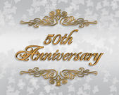 50th Wedding anniversary invitation — Stock Photo