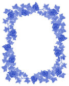 Ivy Border element deft blue — Stock Photo