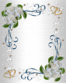 Wedding Invitation border Gardenias — Foto Stock