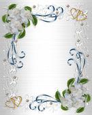 Wedding Invitation border Gardenias — Stock Photo