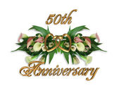 50th Anniversary Calla Lilies — Stock Photo