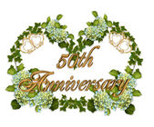50th Anniversary Ivy and Hydrangea — Stock Photo