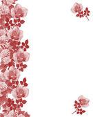 Monocromatico di confine di rose rosse — Foto Stock