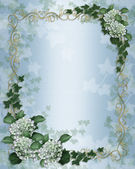 Wedding invitation Ivy floral border — Stock Photo