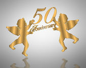 50th Wedding Anniversary angels — Stock Photo