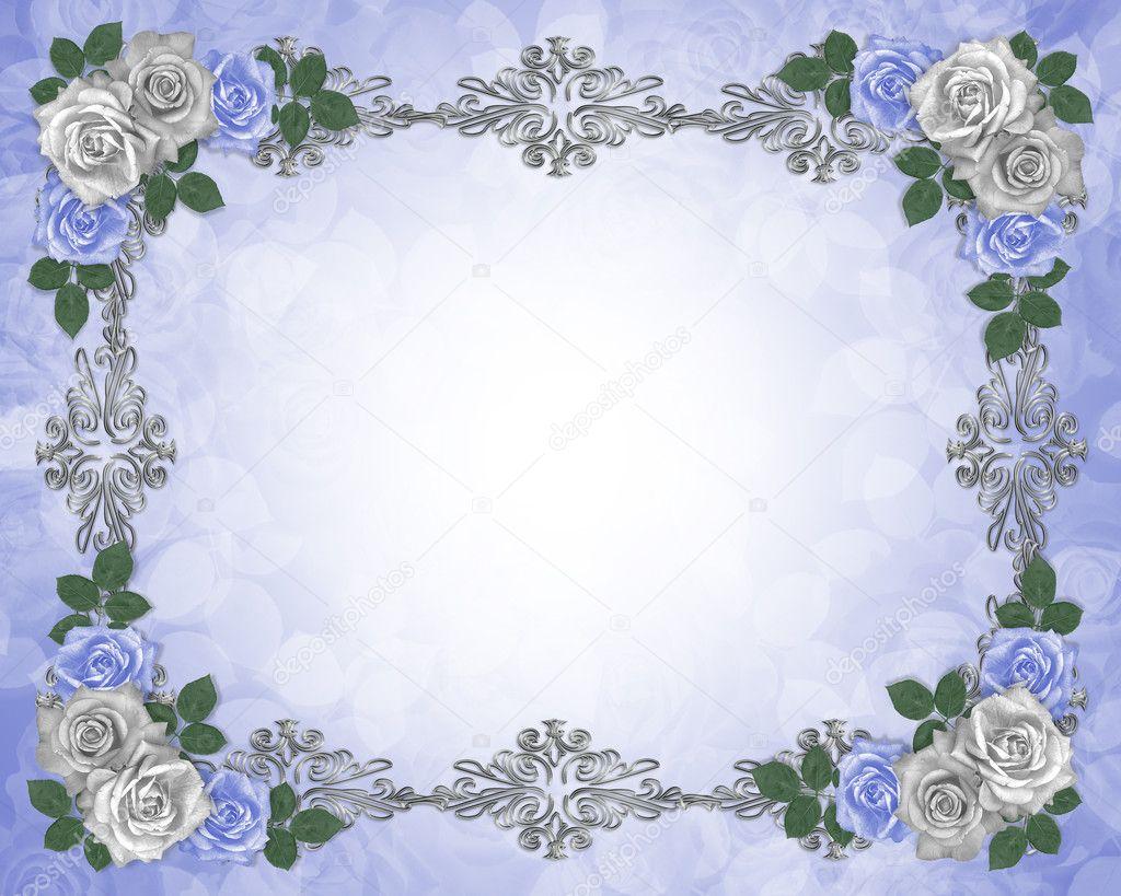 复古背景与玫瑰涂鸦边框 0mela  与蓝色玫瑰婚礼卡 o_april  复古优雅