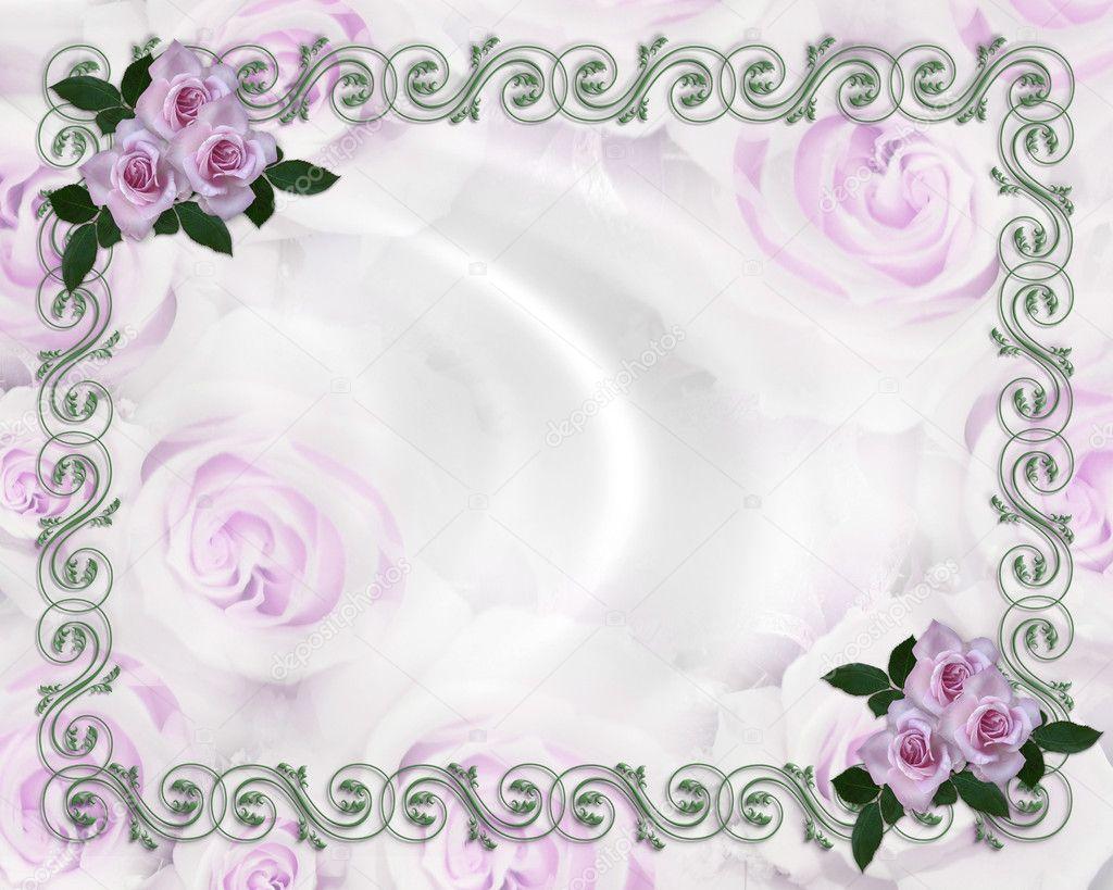 Purple Rose Wedding Invitations: Lavender Roses Wedding Invitation