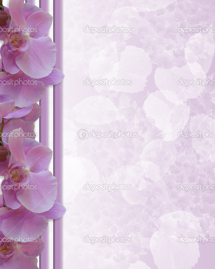 熏衣草兰花,srtipes 为背景, 花卉边框, 结婚请柬或副本空间的模板 —