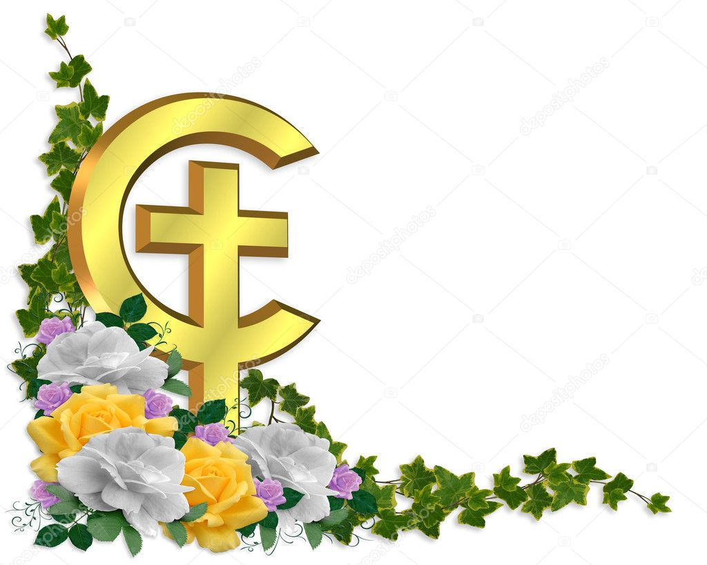 Easter Border Christian Cross Stock Photo Irisangel