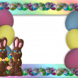 Easter Candy Frame Border — Stock Photo