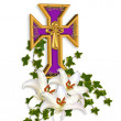 Easter Background Cross and Lilies — Stock Photo #2176783