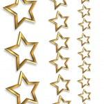 3D Gold stars borders 3 sizes — Stock Photo #2176869