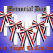 Memorial Day Graphic 3D crosses — Stock fotografie