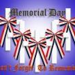 Memorial Day Graphic 3D crosses — Stock Photo